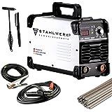 STAHLWERK ARC 200 ST IGBT - Schweißgerät DC MMA/E-Hand Welder mit echten 200 Ampere sehr kompakt, weiß, 7 Jahre…