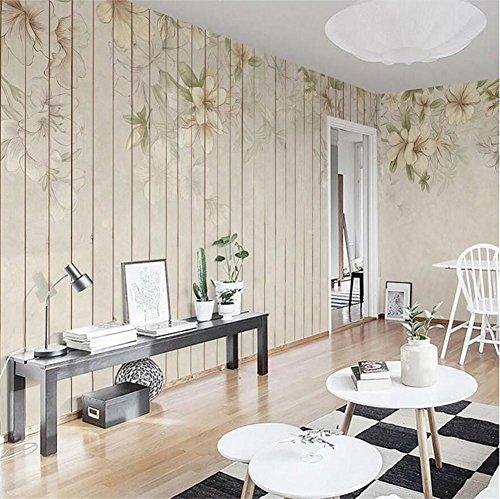 Tapeten nordisches Artblumenmuster 3D kundengerechte Wandbilddekoration Café/Esszimmer/Wohnzimmer/Fernsehwand/Schlafzimmer/Sofahintergrund, B