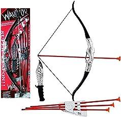 HALO NATION® Ninja Warrior Set - Knights Fancy Dress Kids Cosplay - King's Archery Set with Hunter Knife - for Bahubali Kids