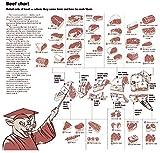Der Museum Steckdose Charts von–Rindfleisch Diagramm–A3Poster Druck