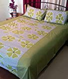 Jojo Designs Cotton Printed Double Bed-Sheet with 2 Pillow Covers (Blue) best price on Amazon @ Rs. 284