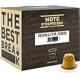 Note D'Espresso - Caffè Qualita D'Oro - Capsule - Compatibili con Sistema Nespresso - 100 Caps