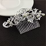 New Akira Pearl Hair Pins Flower Crystal Hair Clips Hair Jewelry Accessories - B0752BXSV2
