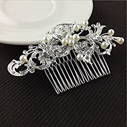New Akira Pearl Hair Pins Flower Crystal Hair Clips Hair Jewelry Accessories