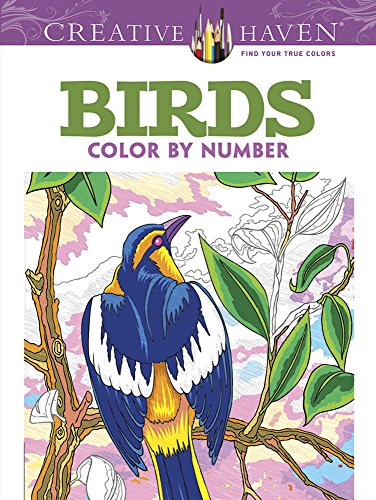 Creative Haven Birds Color by Number Coloring Book (Creative Haven Coloring Books) por George Toufexis