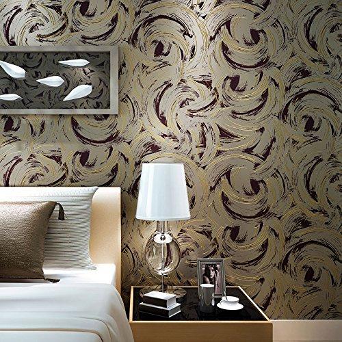 Tempo creative astratto sagome di semplice carta da parati soggiorno moderno camera da letto TV sfondo wallpaper goffratura SJ28053 - Sagoma Border