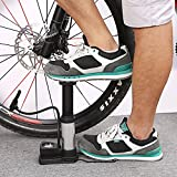 #9: Supermall New Imported Portable Floor Bike Pump, Foot Activated Floor Bicycle Air Pump 230 PSI, Aluminum Alloy Best Quality