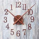 FortuneVin Wanduhr Bad Wanduhr mit Wanduhren lautlosem Uhrwerk Kein nerviges Ticken Retro Rost Metall DIY Wand Kreative Zeit zurückspulen Zeiger Rückwärts, Rückwärts