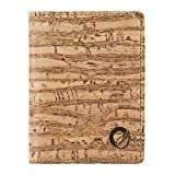 RFID Wallet Slim Men and Women, Vegan Wallet Non-Leather Cork Zebra Natural