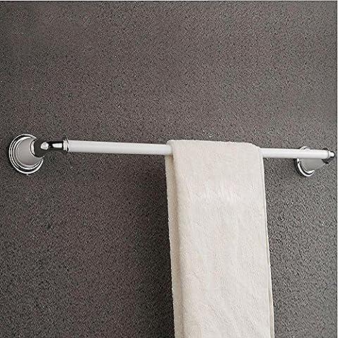 Khskx européenne antique, DE SALLE DE BAIN Barre de serviette, Laiton chromé, torréfié Peinture blanche Unique Barre Serviette Rack