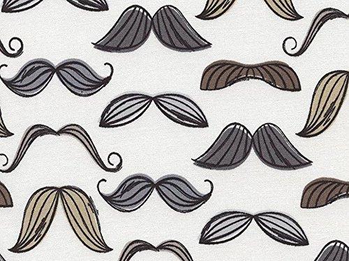 Tissu bio Timeless Treasures Moustache en popeline Quilting Marron – par Fat Quarter