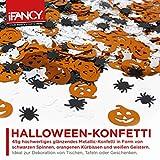 Halloween XXL Konfetti-Mix - viel glänzendes Metallic Konfetti mit Geist, Spinne & Kürbis - ideale Tisch-Deko & Party-Dekoration für Gruselige Halloween-Partys - 2
