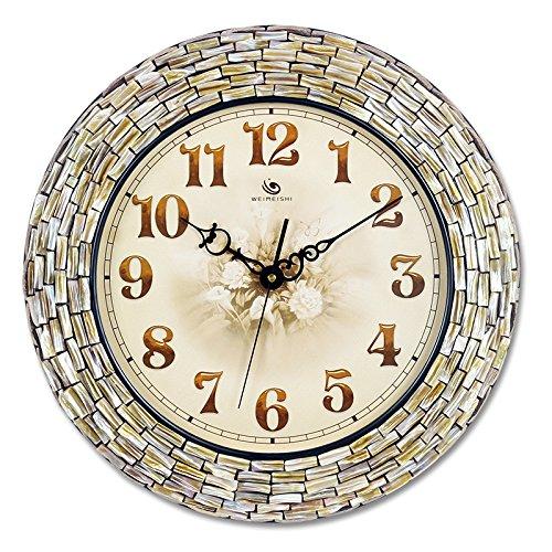 BABYQUEEN Handmade Creative Shell Mosaic Wall Clock Living Room Mediterranean Fashion Decoration Clock