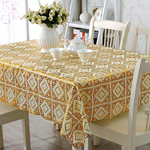 Global- Rectangle PVC Étanche Table À Manger Nappe Salon Table Basse Four Seasons Place Mat ( taille : 138*138cm )