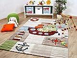 Kinder und Spiel Teppich Savona Kids Piratenschiff Beige Bunt in 5 Größen