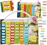 Unbekannt Stundenplan / Wochenplaner / Memoboard -  Einhorn  - incl. 77 Stück beschreibbare Tafeln - austauschbaren Schulstunden zum Einstecken - zum Beschreiben -  ..