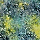 Gelb Cluster Design 100% Baumwolle Bali Batik tie dye Muster Stoff für Patchwork, Quilten &,–(Preis pro/Quarter Meter)