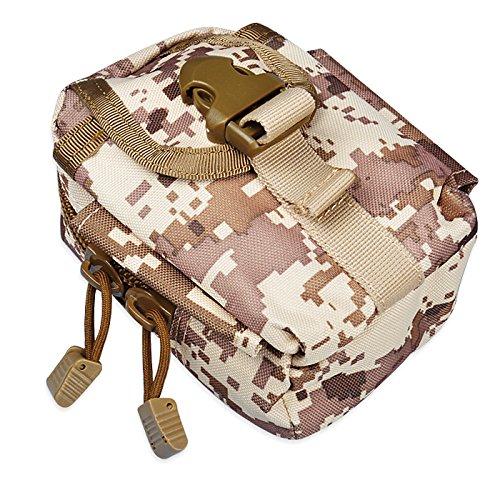 Solon Multi Functional Tactical Gürteltasche Outdoor Survival Molle System Kettle Runde Tasche für Sports Camping Tarnung 1