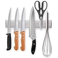 Ninonly Barre Magnetique pour Couteaux 25cm(10inch) Barre Aimantée Porte Couteaux Adhesif Porte Couteaux Magnetique…