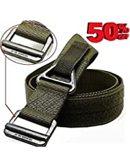 FAIRWIN Cinturón Web Táctico de Aparejos, Cinturón Web de Combate Nylon y Velcro Estilo Militar en Caja de Regalo Delicada