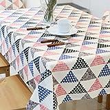 BUUYI Manteles Mesas de comedor Decoración Triángulo 140x220cm Boda hotel restaurante Moderno sencillo