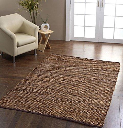 Reinigen Hanf-teppich (Homescapes Leder Hanf Teppich Madras 120 x 180 cm braun aus recycelten Echtlederstreifen und Hanffasern)