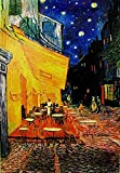 Close Up Terrasse de Cafe la nuit Poster Vincent Van Gogh (61cm x 91,5cm) + Original tesa Powerstrips® (1 Pack/20 Stk.)