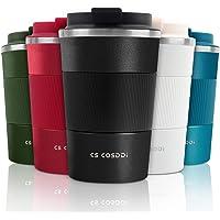 CS COSDDI Thermobecher- Isolierbecher, Edelstahl Travel Mug,13oz/380ml Vakuum auslaufsicher Reisebecher mit Deckel…