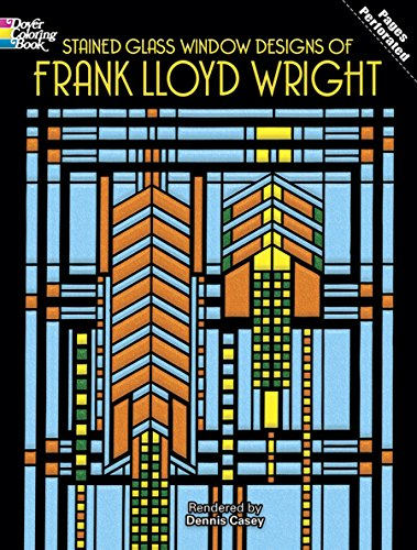 Stained Glass Window Designs of Frank Lloyd Wright (Dover Coloring Books) -