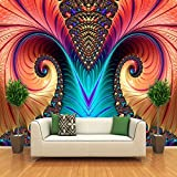 Foto murali personalizzate Carta da parati non tessute 3D Art Abstract Pattern Colore Carving Living Room TV Sfondo Wall Decor Wallpapers