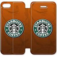 Funda iPhone 6 6S Plus 5.5 Inch Wallet Leather Case,Eartha Dolores Shop [Starbucks Beverage Coffee Logo Brand Advertising] 5C7EW