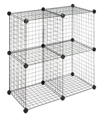 Whitmor 6070-1723 4 Storage Cubes, Black: Amazon.co.uk: Kitchen & Home