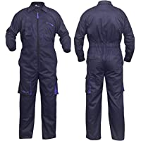 NORMAN Navy Blue Work Wear Men's Overalls Boiler Suit Coveralls Mechanics Boilersuit Protective