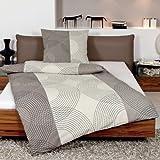 Janine Design Seersucker Bettwäsche Tango 2411-07 Taupe 140x200 cm + 70x90 cm