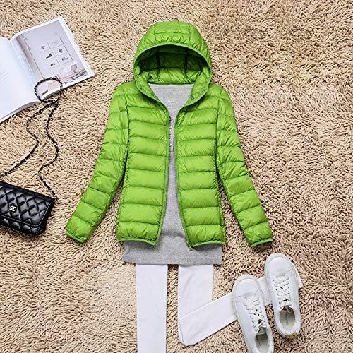 MINMINA Daunenjacke leichte Daunenjacke Damen Kurze Volltonfarbe Daunenjacke warme Mode Daunenjacke, grün, M