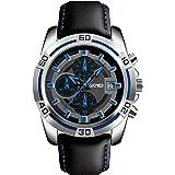 DHNQ Men Watch Waterproof Stainless Steel Fashion design Led Analog Digital Watches Day Date Stopwatch Heavy Metal Alarm Spor
