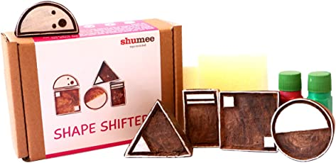 Shumee Wooden Shape Shifter Stamp Set (3 Years+) - Learn Geometry Shapes