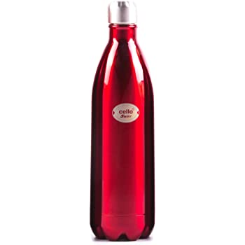 Cello Swift Steel Flask, 1-Litre, Red