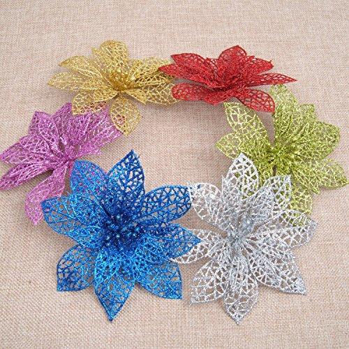 Skylofts Artificial Packaging Flower for Gift Wrapping / Glitter Flowers Handicraft Art...