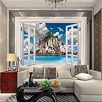 Lqwx Papel Tapiz Personalizado Para Paredes 3 D Decoración Mural Fondo Papel Tapiz Para Dormitorio Moderno Salón Beach Island Papel De Pared 200Cmx140Cm