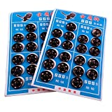 Schwarze oder silberfarbene Metall-Druckknöpfe zum Annähen - Durchmesser ca. 8,5 bis 16 mm rund - Metallknöpfe für Jacken, Kleidungsstücke und Accessoires (14 mm (40 Stück), Schwarz)