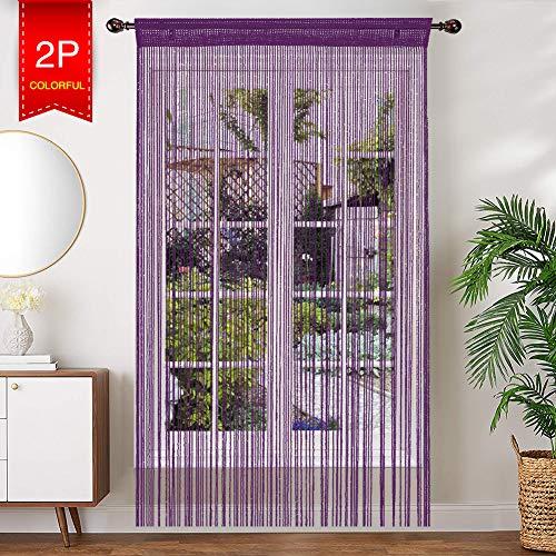 AIZESI - 2 Cortinas ventilación Puerta Verano 90
