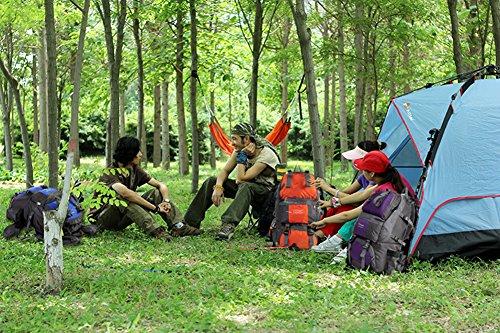 niceEshop(TM) 36-55L Wasserdicht Interne Rahmen Rucksack Daypack Wanderrucksack für Männer und Frauen Lila Rucksack