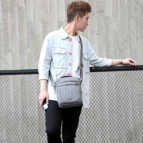 Outreo Umhängetasche Reisen Kuriertasche Vintage Taschen Retro Schultertasche Herren Herrentaschen für Reisen Messenger Bag Grau