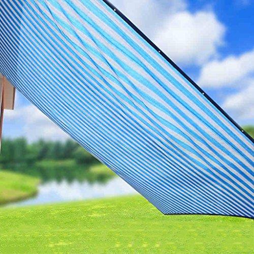 Sonnensegel Schattennetz Sonnenschutz Markise Balkon Terrasse Gartenzubehör Kantenverschlüsselung Schattierung Isolierung Es gibt ein Loch alle 1 Meter Mit Zugseil ( Color : Blue , Size : 2*4 m/79*157 inch ) | Garten > Sonnenschirme und Markisen > Sonnensegel | Messing | QI FANG BUSINE