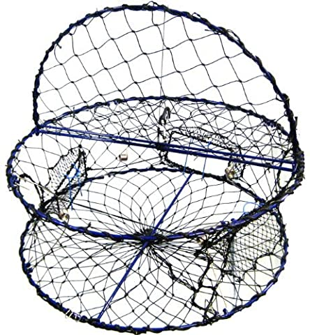 Promar Heavy Duty Collapsible Crab Pot, 32 x 12 Poly with Hinged Tending Door - Alaska Legal by Promar