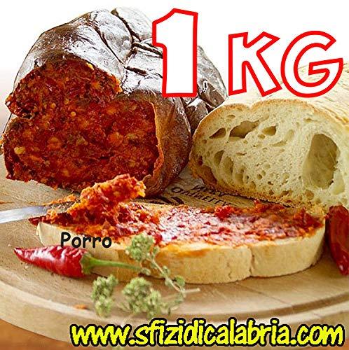 1kg nduja nduia in budello salame calabrese spalmabile piccante artigianale
