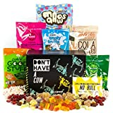This Box Rocks Vegan Sweets Gift Box with 6 Bags of Gelatine Free Sweets in a Charismatic Gift Box
