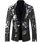 Allthemen Mens Suits Slim Fit Blazer Shiny Shawl Lapel Dress Suit Jacket Party Prom Clubwear Halloween/Cosplay Tuxedo Jackets