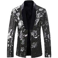 Allthemen Mens Suits Slim Fit Blazer Shiny Shawl Lapel Dress Suit Jacket Party Prom Clubwear Halloween/Cosplay Tuxedo…